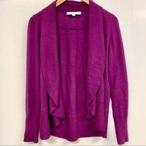 Ann Taylor LOFT plum purple cardigan sweater XS
